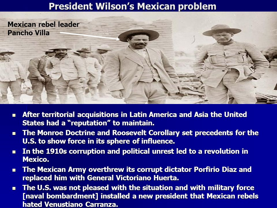 President Wilson's Mexican problem