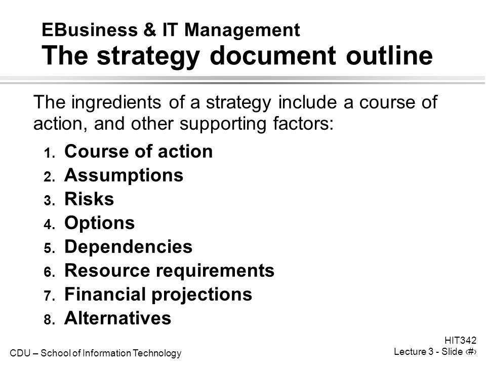business strategy and management course outline Business strategy bsmg6206 course outline description:  understanding of business strategy and will enable participants to analyze, develop, and implement strategic plans course goals:  implementing future oriented management activities to achieve the firms' mission.