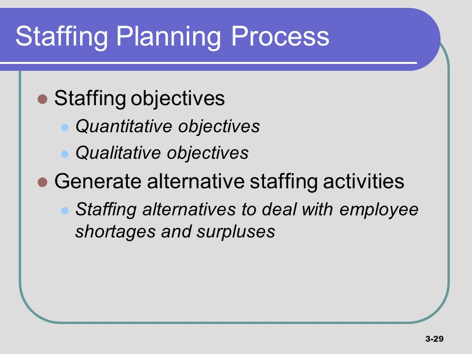 Staffing Planning Process