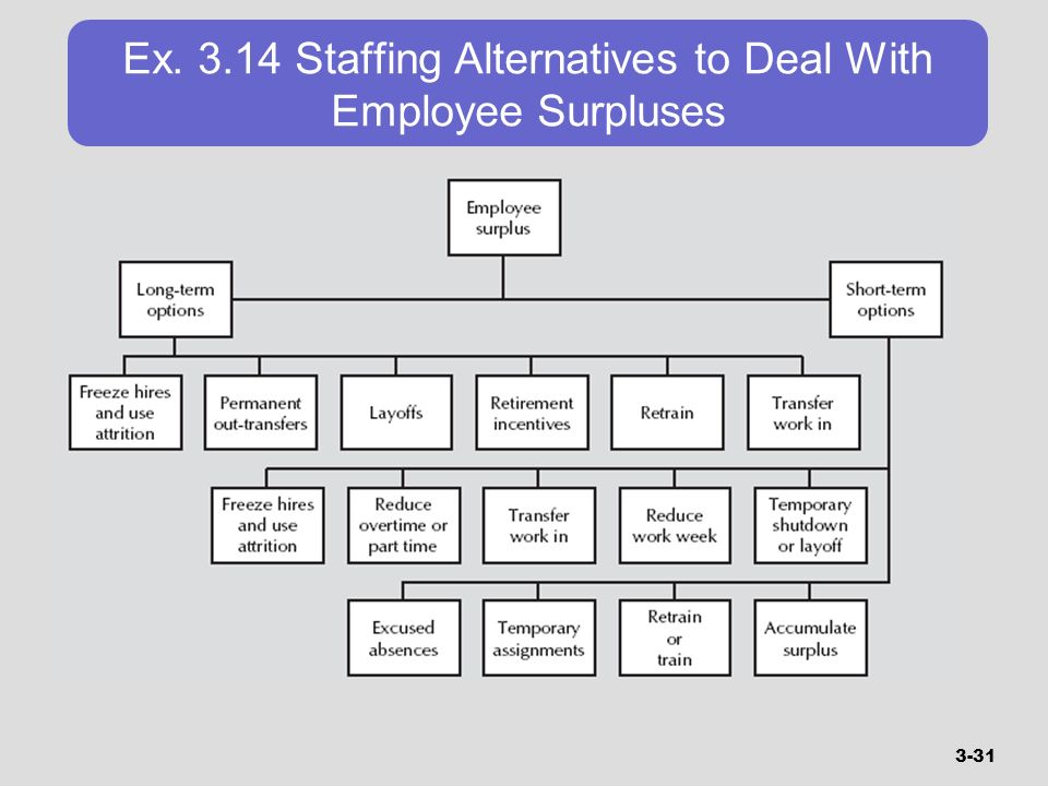 Ex Staffing Alternatives to Deal With Employee Surpluses