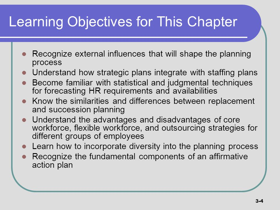 Learning Objectives for This Chapter