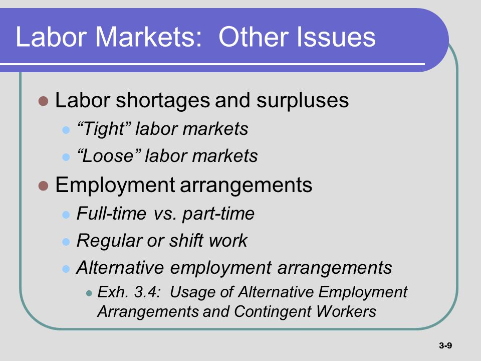 Labor Markets: Other Issues