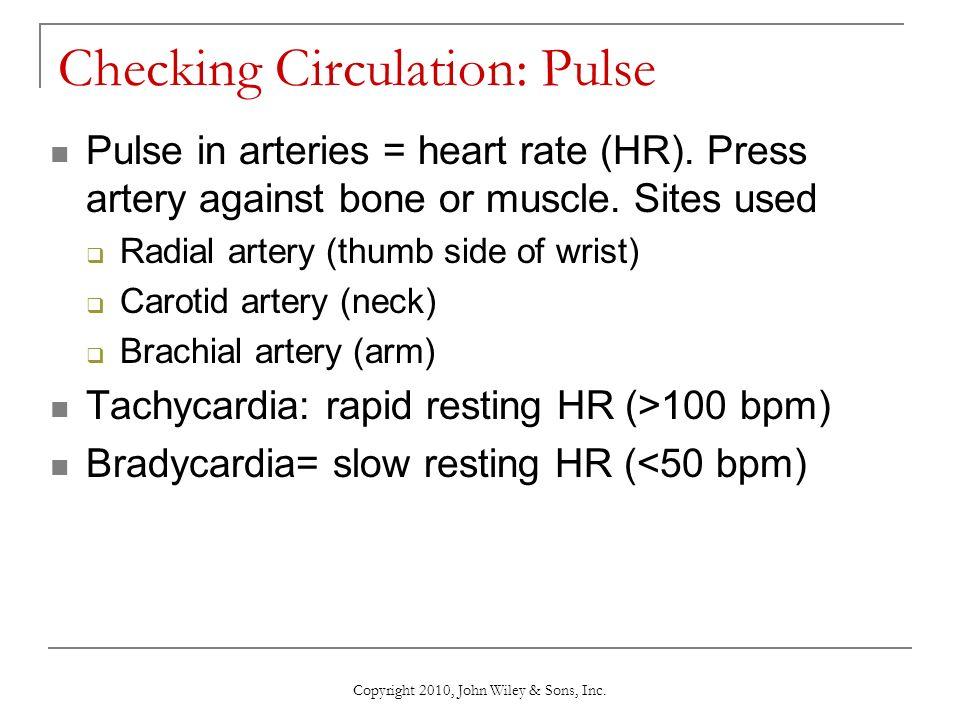 Checking Circulation A Pulse