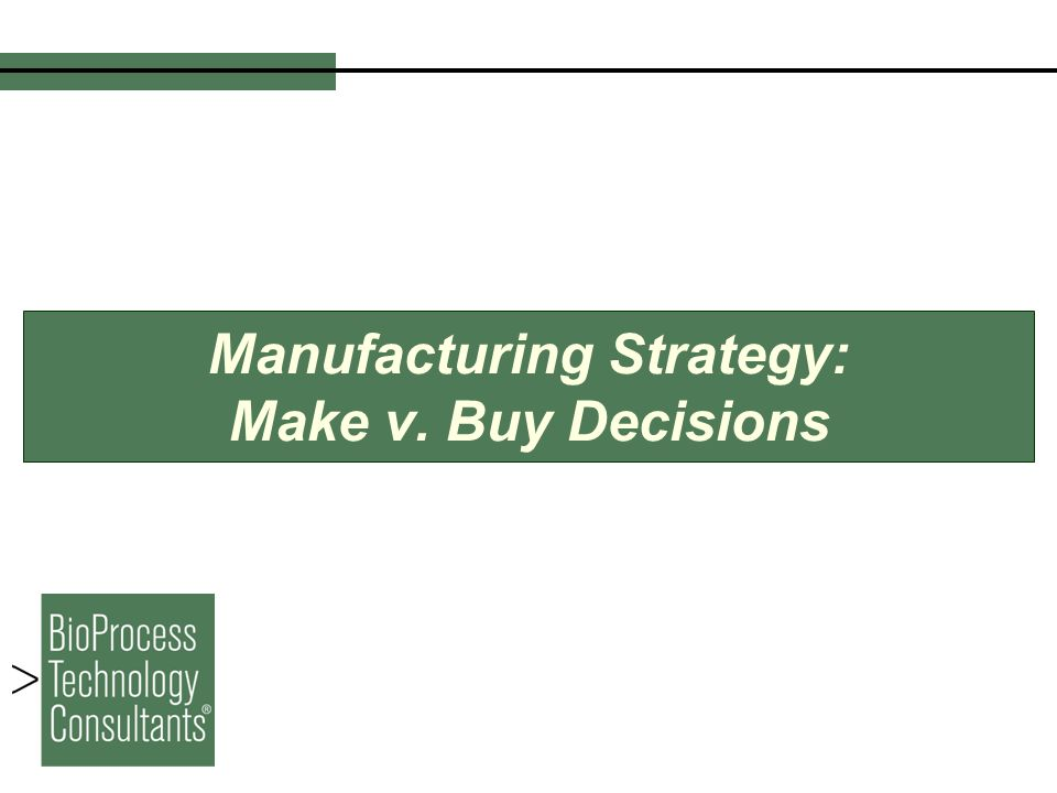 a make or buy decision at baxter manufacturing A make-or-buy decision at baxter manufacturing company scenario summary baxter manufacturing company (bmc) is a leader in deep-drawn stampings it has been in business since 1978 as a privately held company.