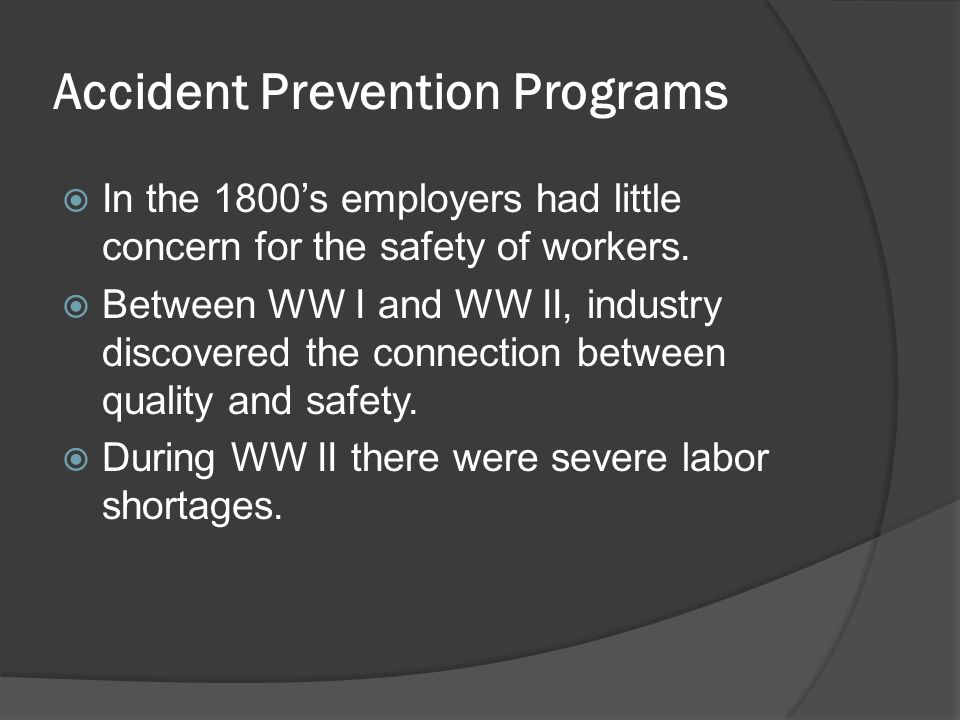 accident prevention program In the state of nevada, the implementation of nrs 459380 in 1991 led to the  nevada chemical accident prevention program (capp) by the nevada division  of.