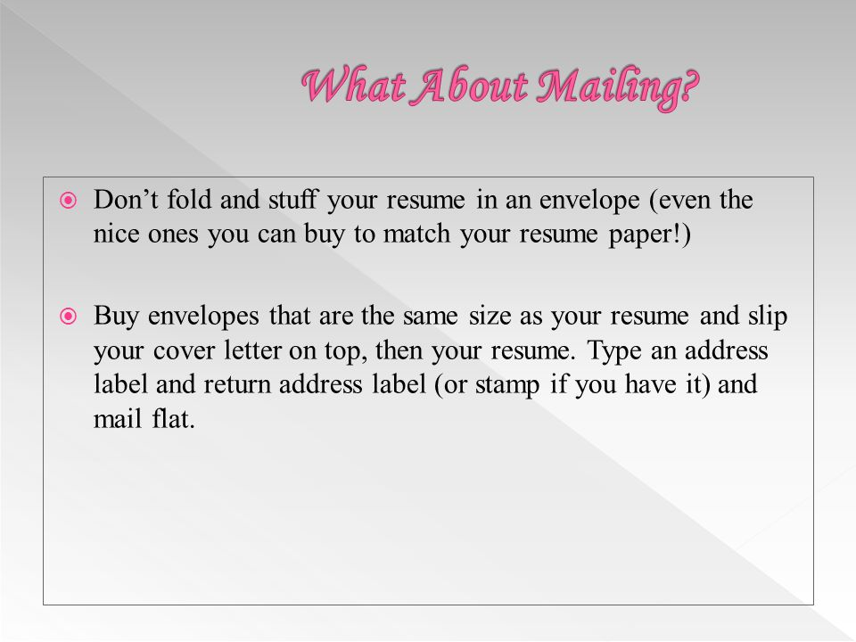 How to fold resume and cover letter in envelope Resume Com Samples         fold resume  cover letter  Traditional Paper Resume in WORD  Delivery