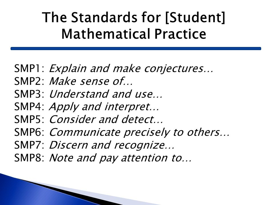 The Standards for [Student] Mathematical Practice