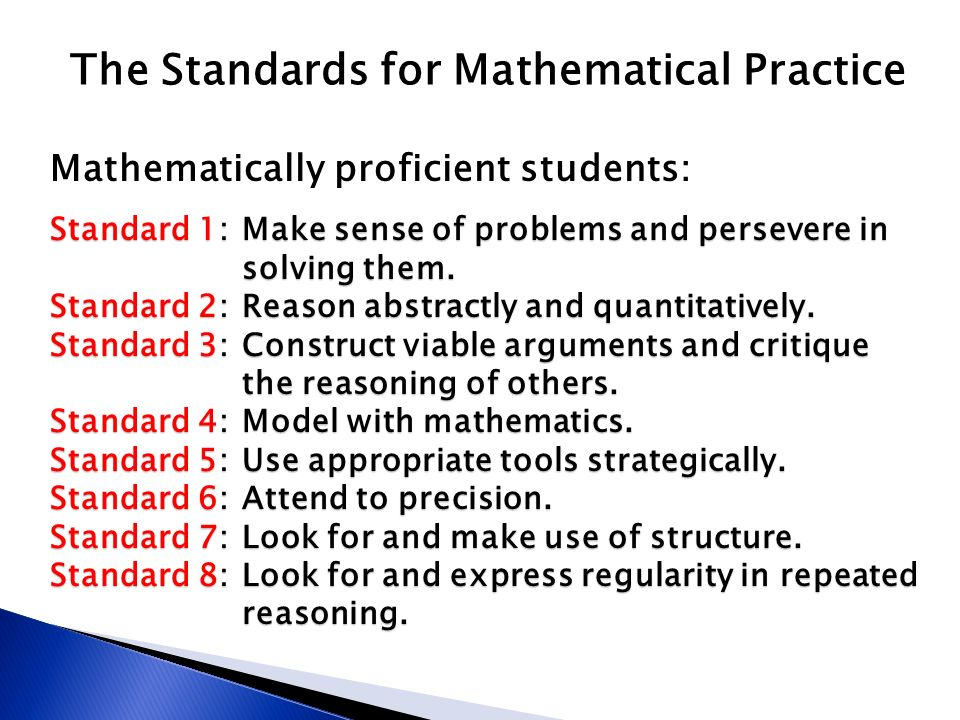 The Standards for Mathematical Practice - ppt download