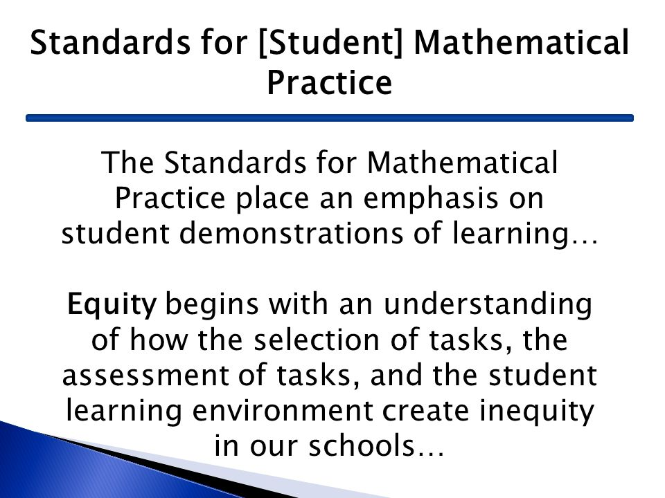Standards for [Student] Mathematical Practice