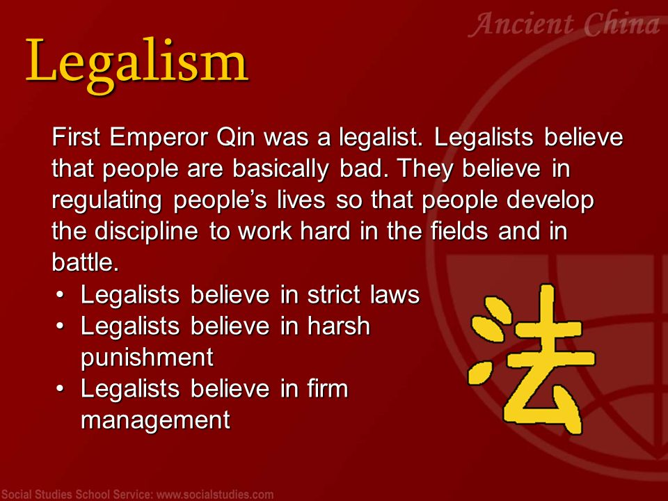 legalism during the chaotic era 6 responses to three ancient chinese philosophies: good governance during the warring states period.