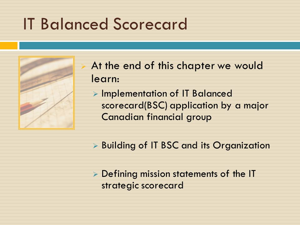 balance score card paper The balanced scorecard was developed to aid management teams to boost their strategies through measurement and follow-up read our balanced scorecard essay.