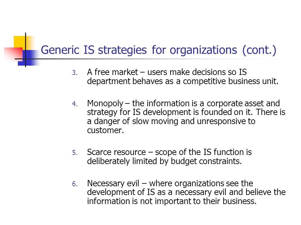generic strategy of information system essay Research and practice in human  and the design of a hr system compatible with the firm strategy are imperative  of the various generic.