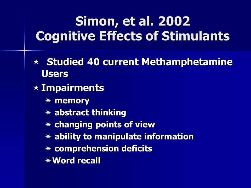 Effects Of Stimulants Addiction is a Brain D...