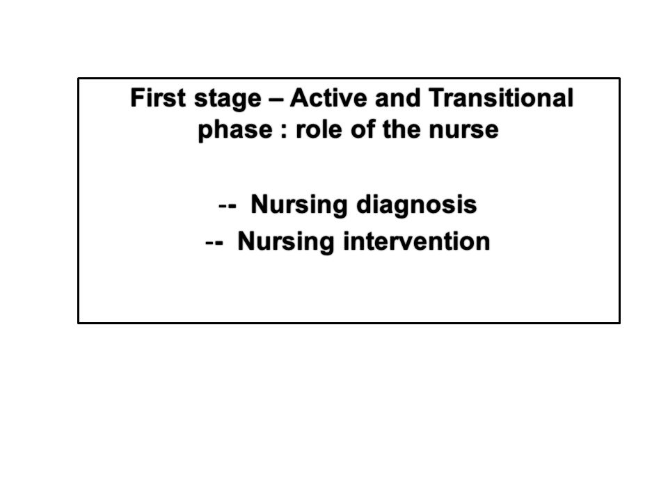 role of the nurse in labor Abstract: the nurse practitioner may play a pivotal role in diagnosing preterm labor through risk assessment and physical exam while treatment and management of preterm labor are usually beyond the nurse practitioner's scope of practice, they can play an important role in preventing preterm birth .