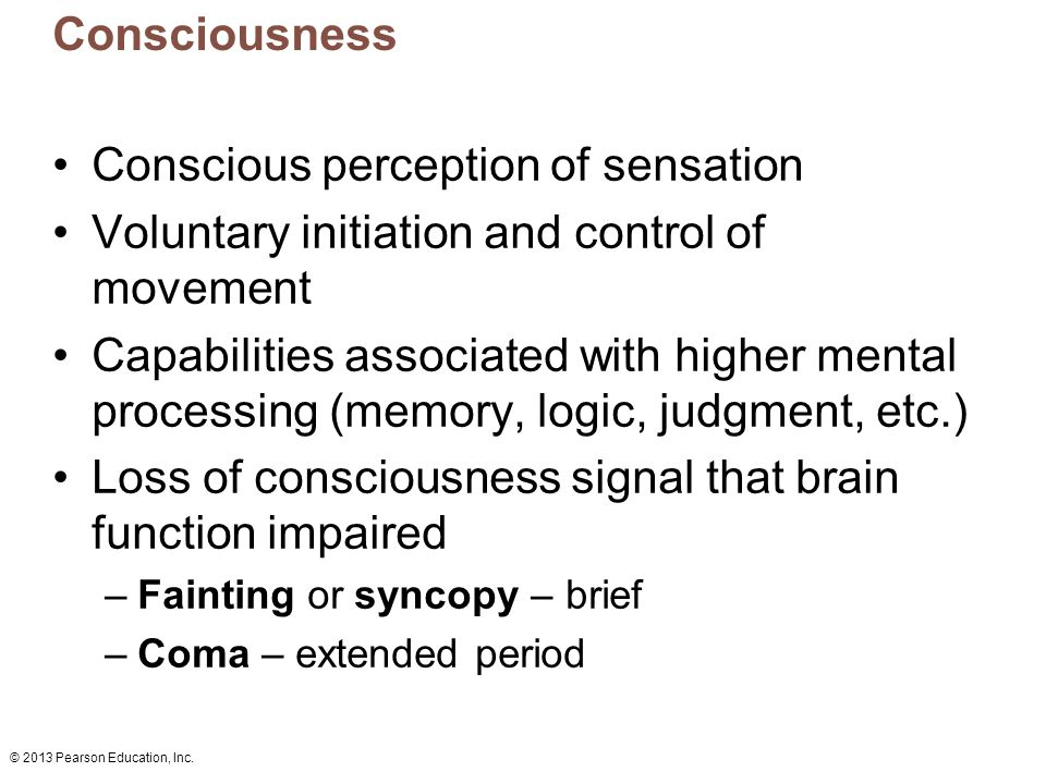 sensation perception and consciousness Back to course 'psych101: introduction to psychology' unit 4: sensation, perception, and consciousness as human beings, we perceive our world through our senses.