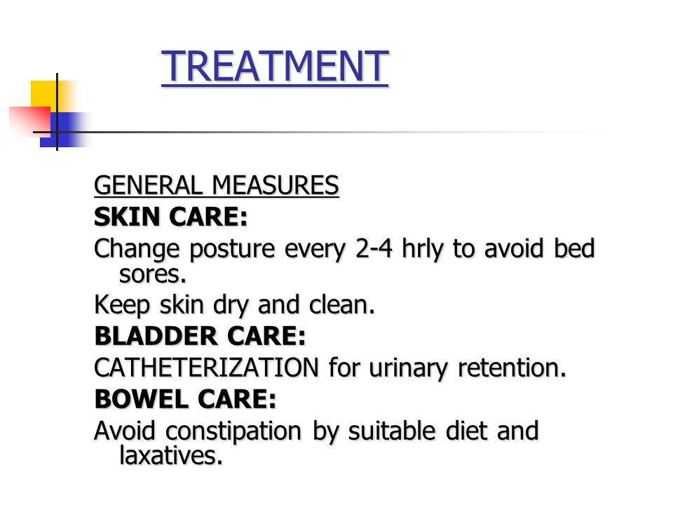TREATMENT GENERAL MEASURES SKIN CARE:
