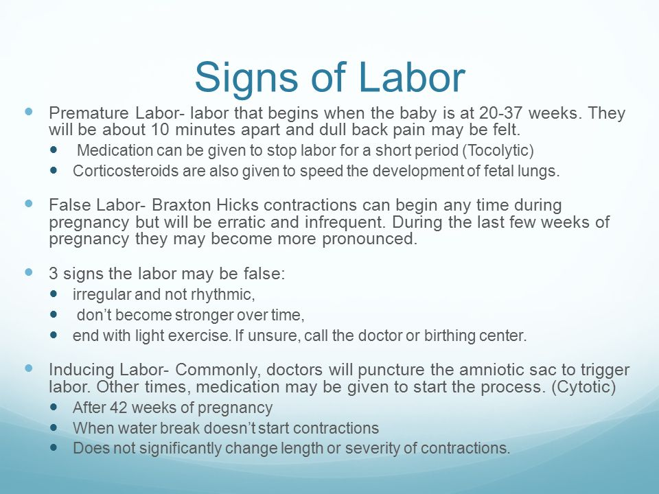 Beginning of labor Ch. 6 Page ppt video online download