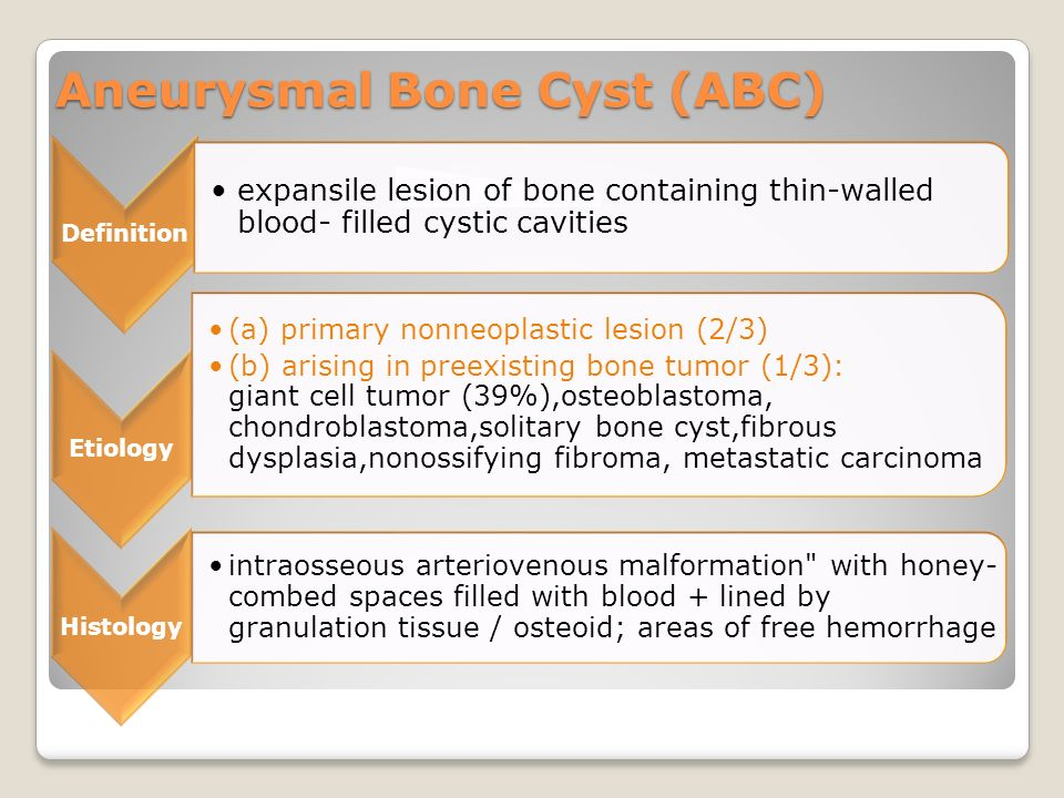 Aneurysmal Bone Cyst (ABC)