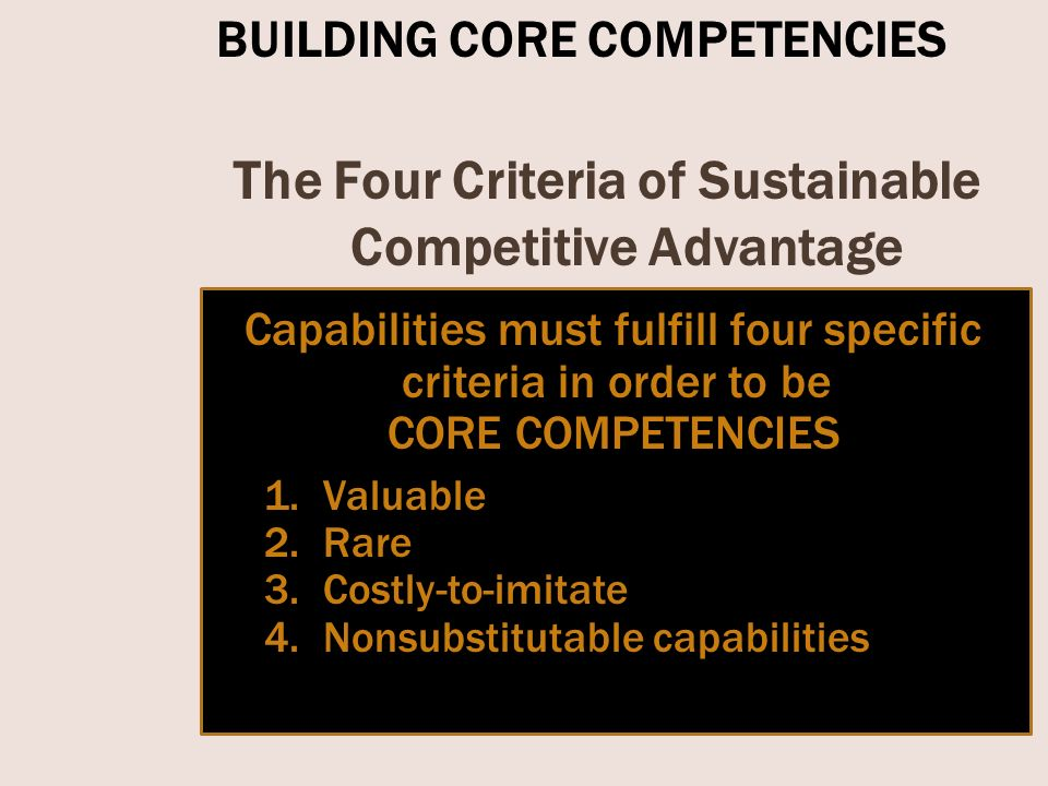nokia capabilities and core competencies Traditionally, porter's views focus on an organization's capabilities, core competencies, and competitive advantage and as a matter of face, those capabilities originate in the resources which the firm possesses.