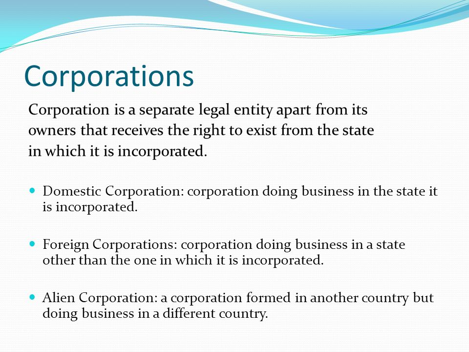 the corporation as a legal entity The business entity concept, also known as the economic entity assumption or business entity principle, states that all business entities should be accounted for separately in other words, businesses, related businesses, and the owners should be accounted for separately.
