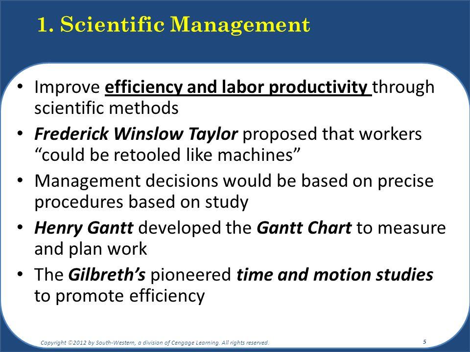 1. Scientific Management