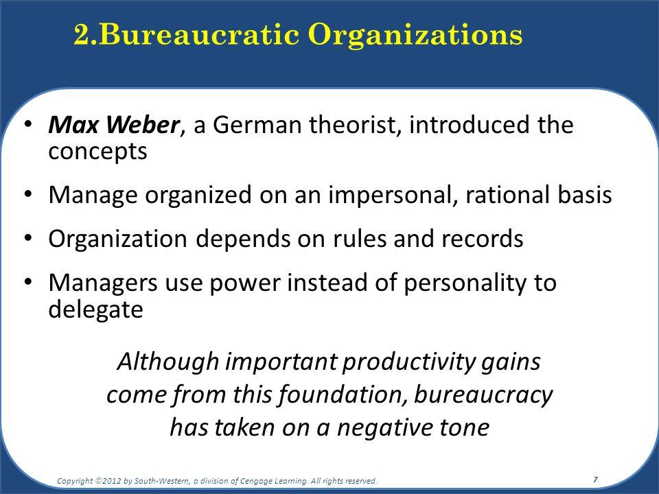 2.Bureaucratic Organizations