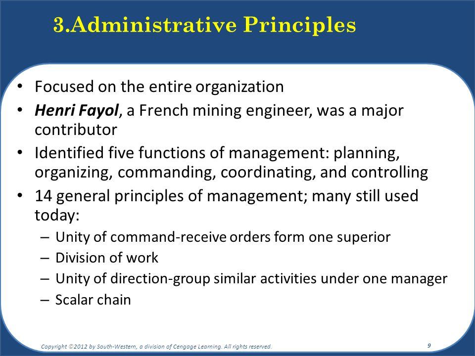 3.Administrative Principles