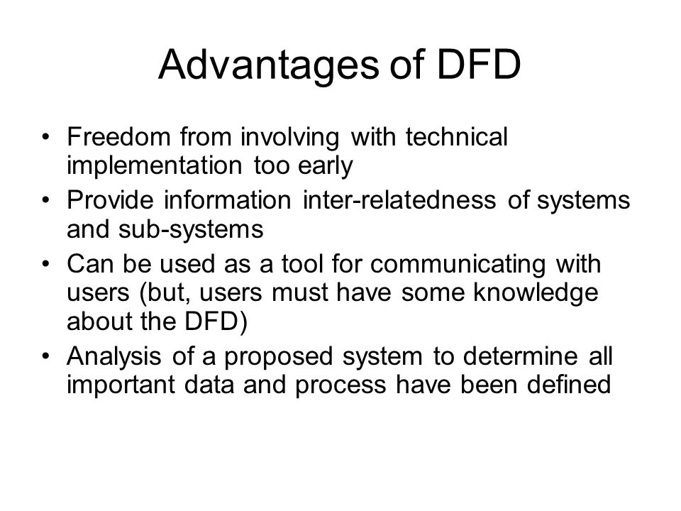 Software engineering data flow diagrams ppt download advantages of dfd freedom from involving with technical implementation too early provide information inter ccuart Gallery