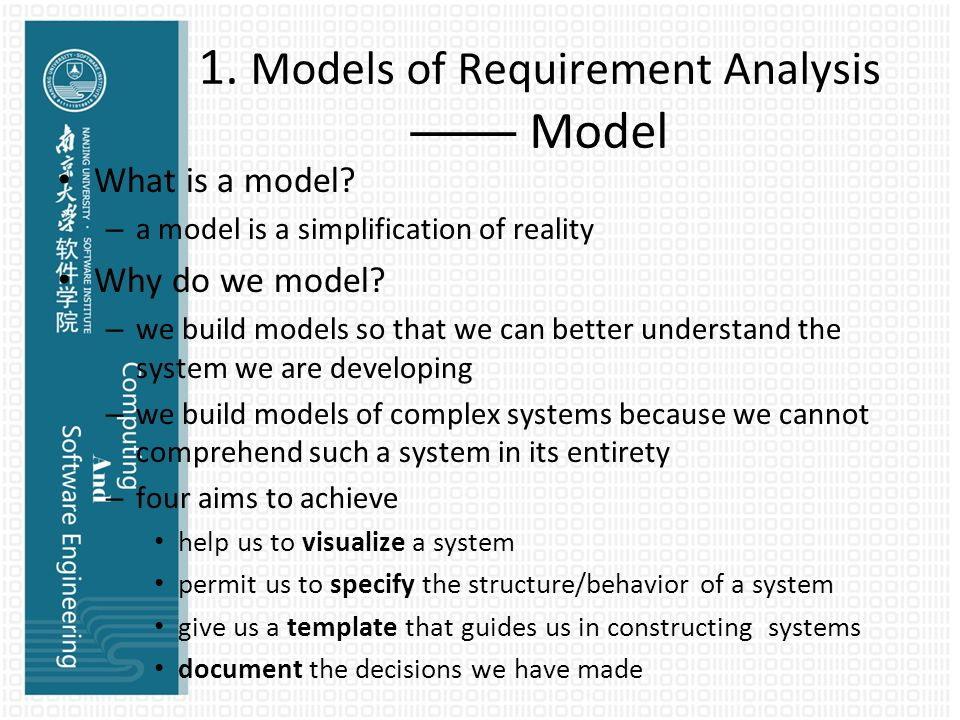 Computing And Se Ii Chapter 5: Requirements Analysis - Ppt Download