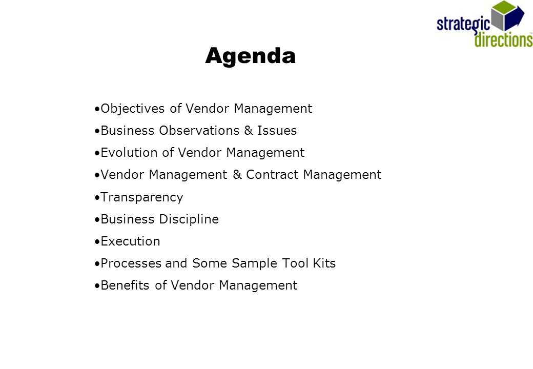 Vendor Management (The Emerging Discipline For Contract Managers