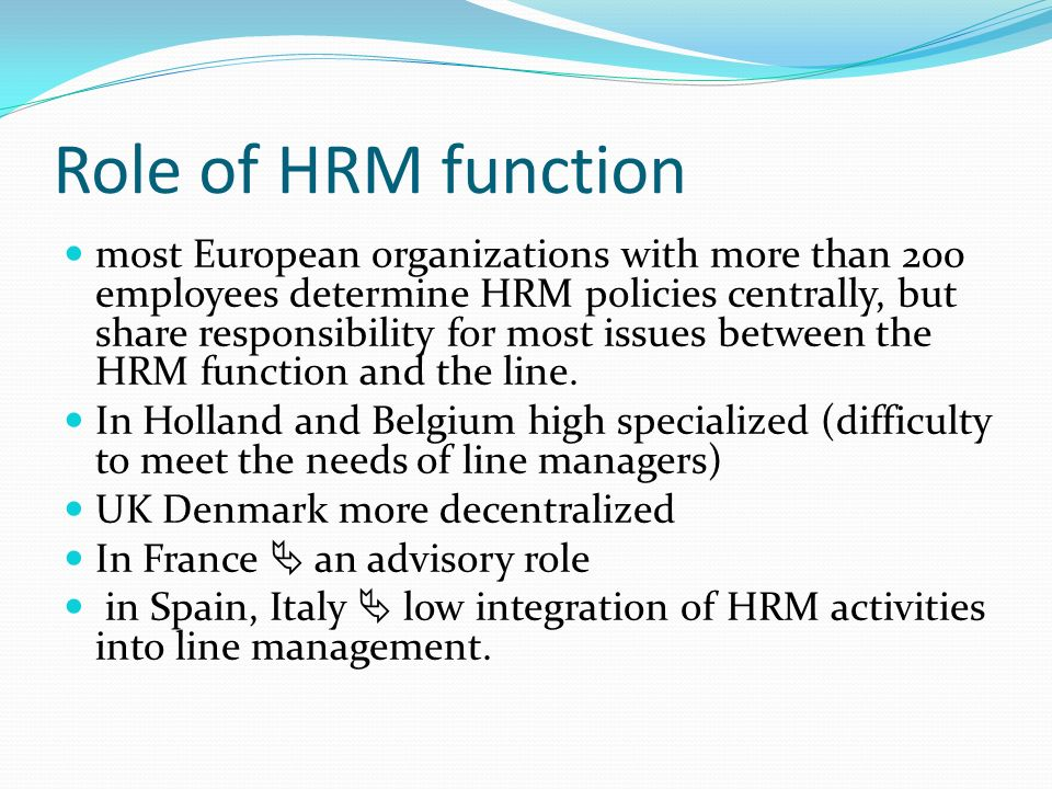hrm roles Find new ideas and classic advice for global leaders from the world's best business and management experts.