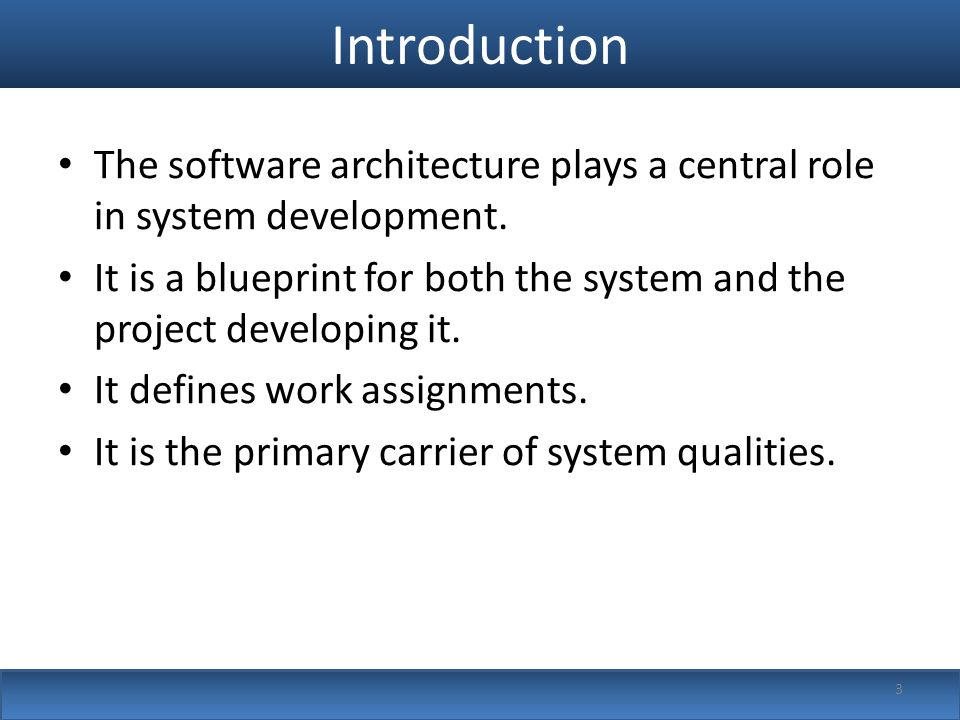 Documenting software architectures ppt video online download introduction the software architecture plays a central role in system development malvernweather Image collections