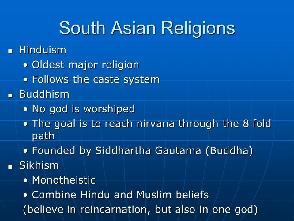 an analysis of hinduism as the oldest major religion Start studying world religions midterm: indigenous, hinduism, and buddhism learn vocabulary, terms, and more with flashcards, games, and other study tools.