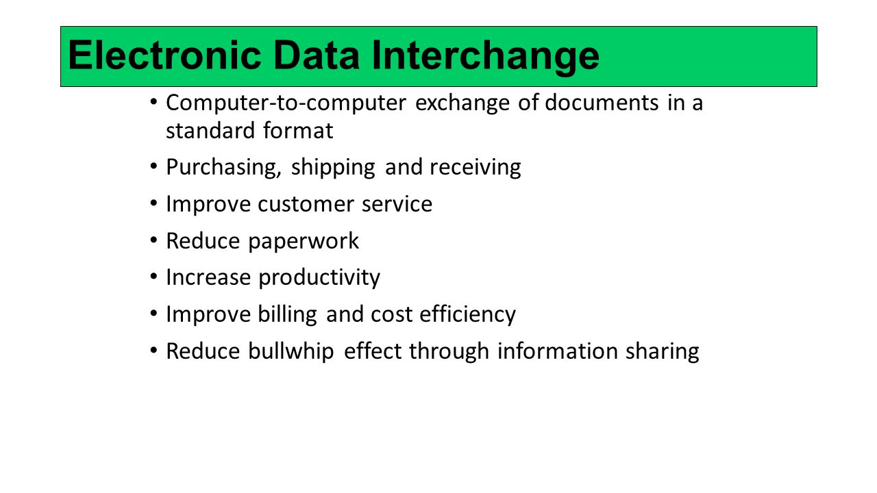 Electronic Data Exchange : Supply chain management ppt video online download