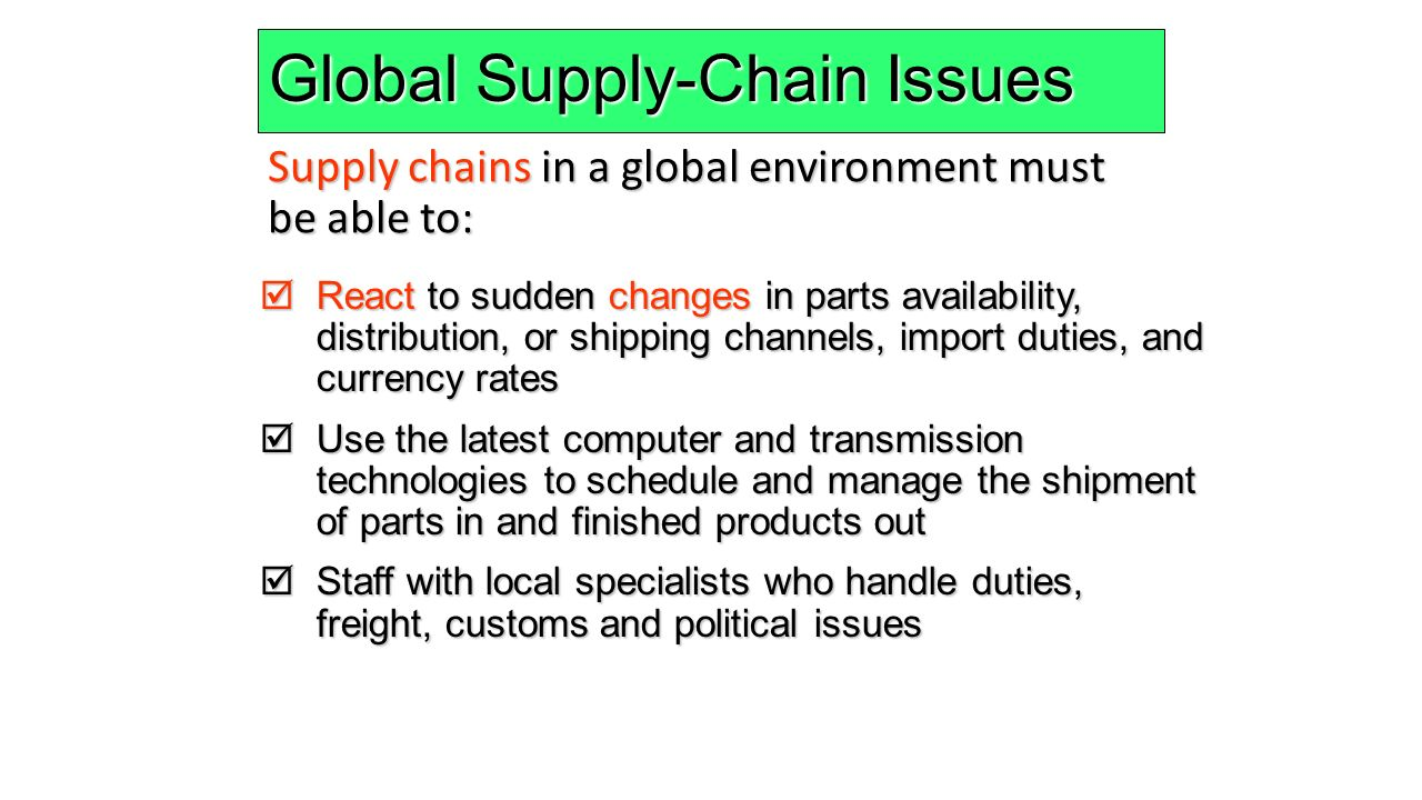 issues of supply chain of beverage Environmental issues in supply chain management: new trends and applications: publisher: springer  top ten iot applications in the food and beverage industry.