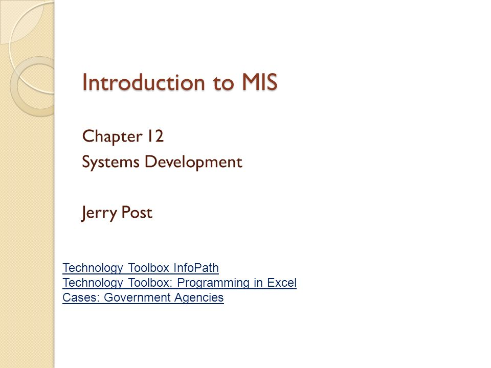 mis chapter 12 Values and practices are supported by the new information technology conducting an ethical analysis of the case would involve the five step process: 1 identify and describe clearly the.