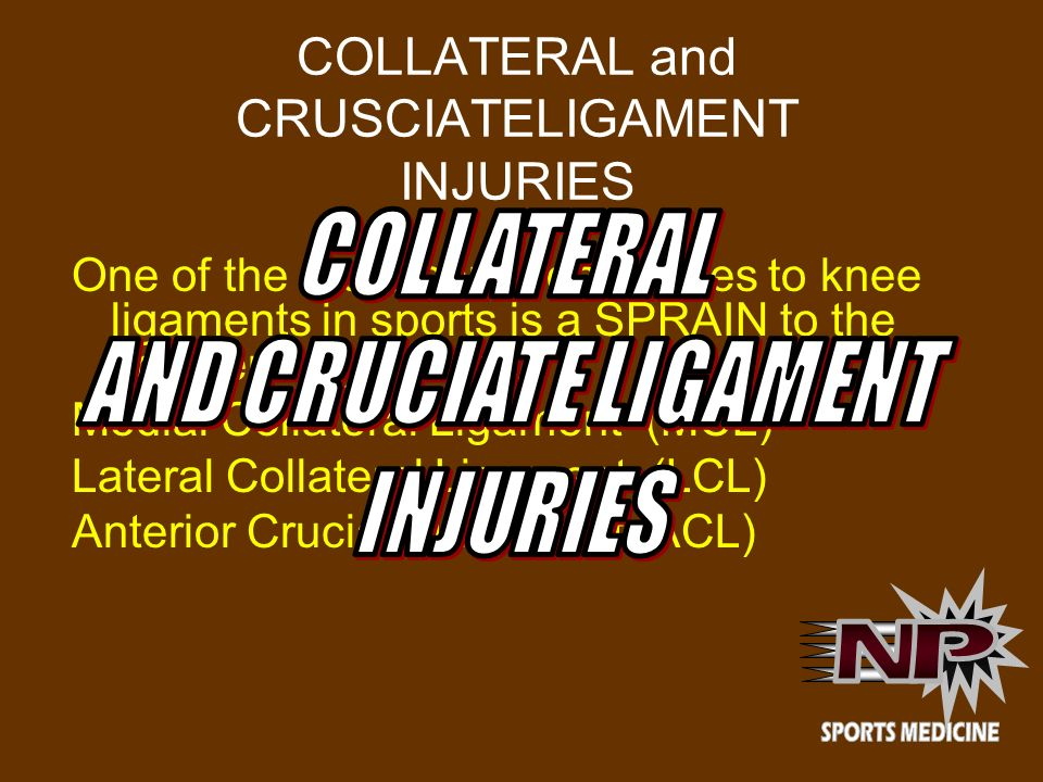 COLLATERAL and CRUSCIATELIGAMENT INJURIES