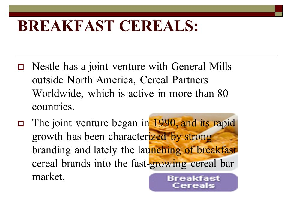 marketing mix for breakfast cereal Marketing plan for kellogg's william keith kellogg produced the breakfast cereal we have included the marketing mix to help us show the product.