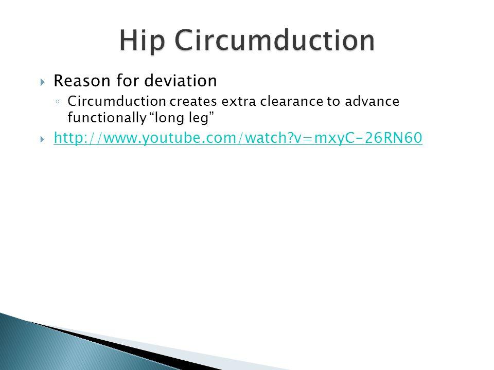 Hip Circumduction - Gait