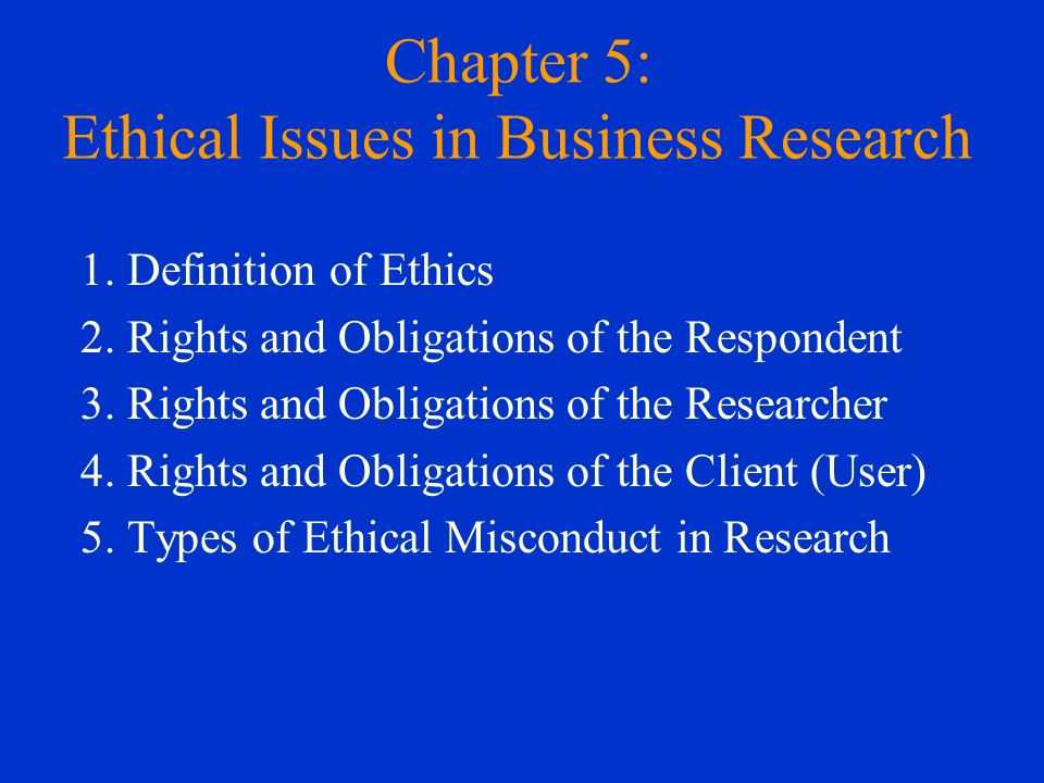 Ethics in Business Research and Why They Are Important