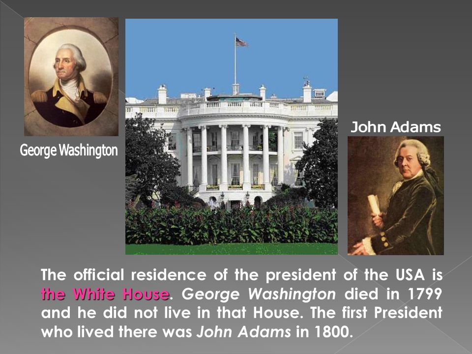 Washington dc ppt for Did george washington live in the white house