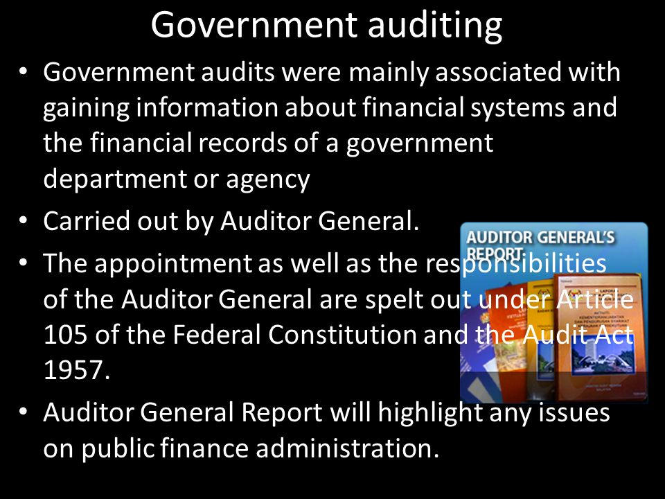 Government auditing