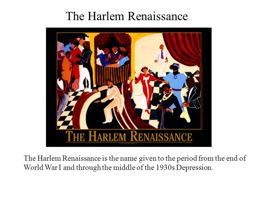 essays during the harlem renaissance The harlem renaissance was a significant event in the history of the united states of america the harlem renaissance centered on the culture of african-americans and took place at the end of the american civil war in 1865.