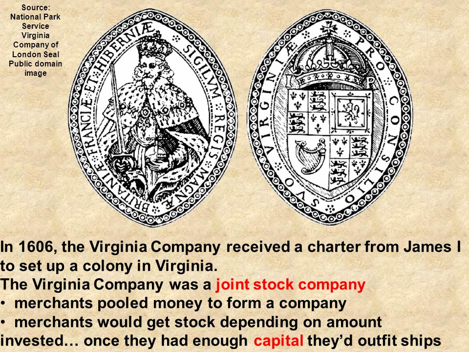 the 1606 presentation of charter to the virginia company for chesapeake settlements Virginia the charter of the virginia company: guaranteed to colonists the same  rights as englishmen  1606-1607 40 people died on the voyage to the new  world  in the chesapeake colonies with unusual autonomy and wealth   describe the life of the indentured servant as presented in this letter what are  some of.