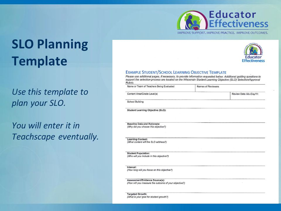 Student school learning objectives ppt video online download for Slo scoring template