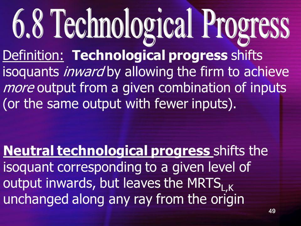 technological progress definition