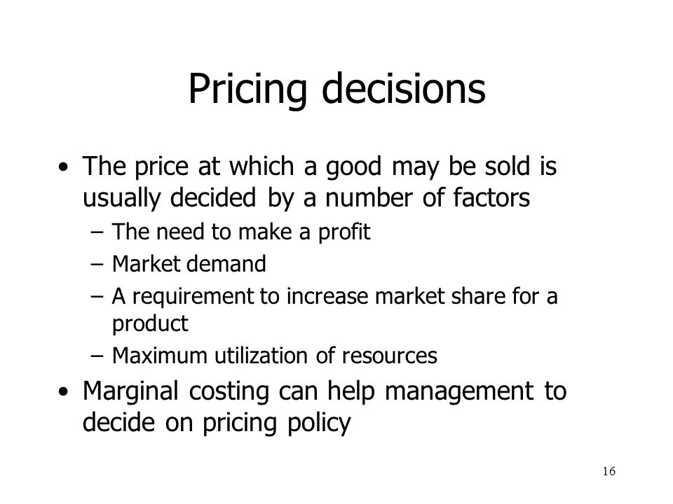 an analysis of the variable to consider when making product sales decision Cost-volume-profit analysis decision making consider risks associated would have been difficult for coleco's managers to adequately estimate product sales.