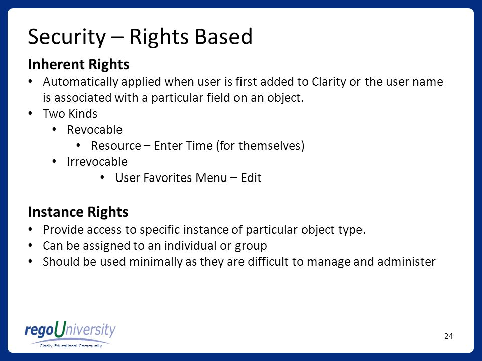 Security – Rights Based