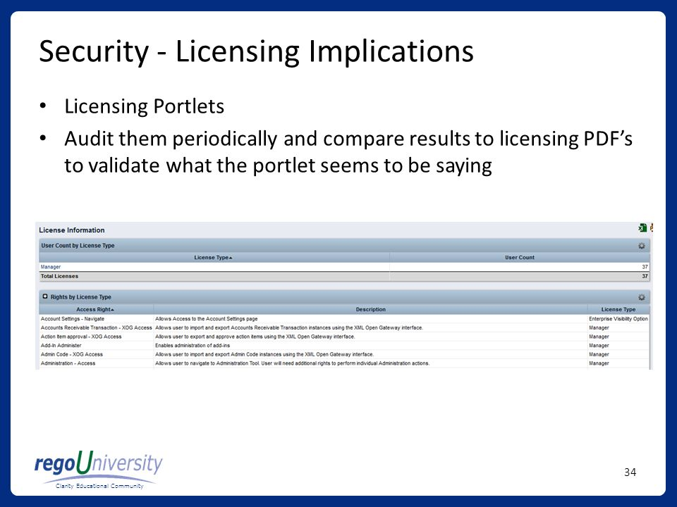 Security - Licensing Implications