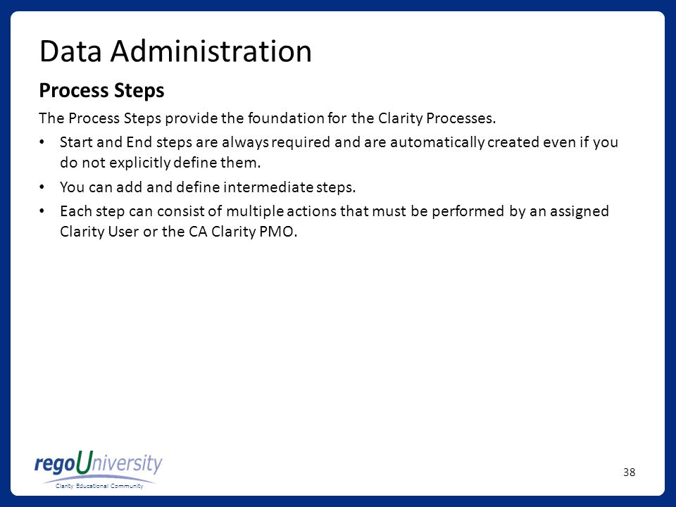 Data Administration Process Steps